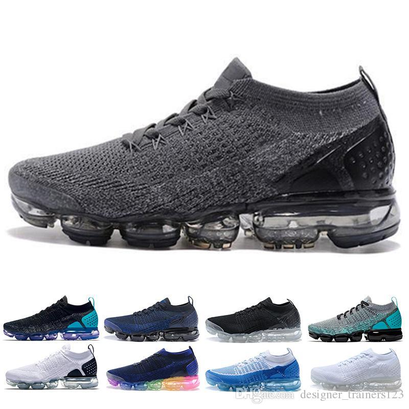 2020 Knit 2.0 Fly Chaussures de course Hommes Femmes Acronyme Triple Noir Metallic Dusty Cactus en plein air Chaussures Designer Sneakers Baskets 36-45