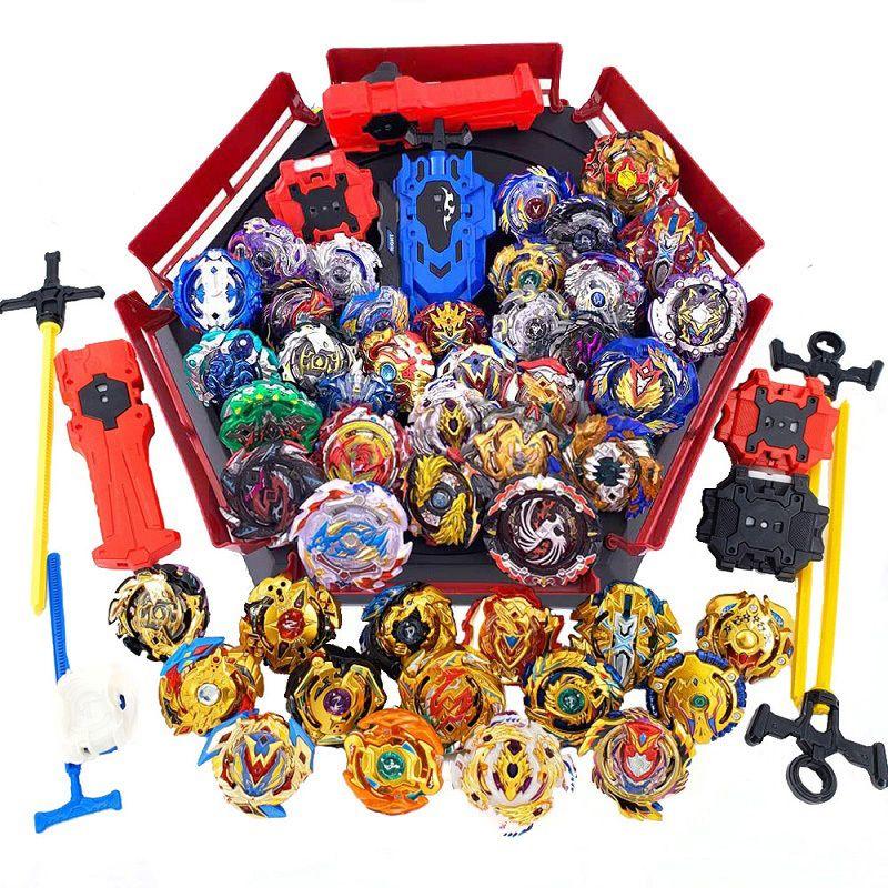 Top Set Lançadores Beyblade GT Explosão Toy Lâmina lâminas de metal Bayblade Bables Top bey lâmina para Crianças Y200109
