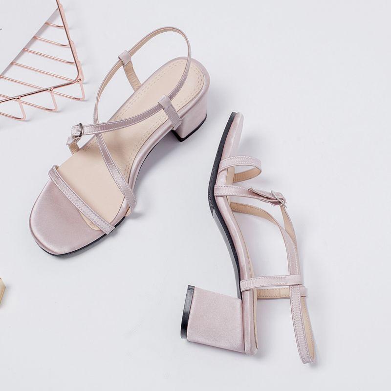 Heißer Verkauf-Großverkauf 5 färben klassische Sandelholze Entwerferdame Sandelholze für Kind-Schuh-Metallschnalle Art- und Weiseschuh-Ferse 5cm Größe US2.5-10.5 rot