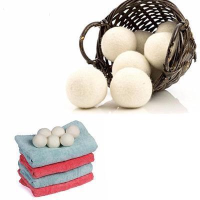 Secador de lana bolas Premium reutilizable suavizante de tela Natural 2,75 pulgadas estática reduce ayuda a secar la ropa en lavandería más rápido
