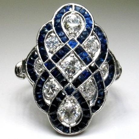 Fashion Trend-Saphir-Ring Verkaufs Euramerican Frauen Exaggerate 925 Versilbert Verlobungsring