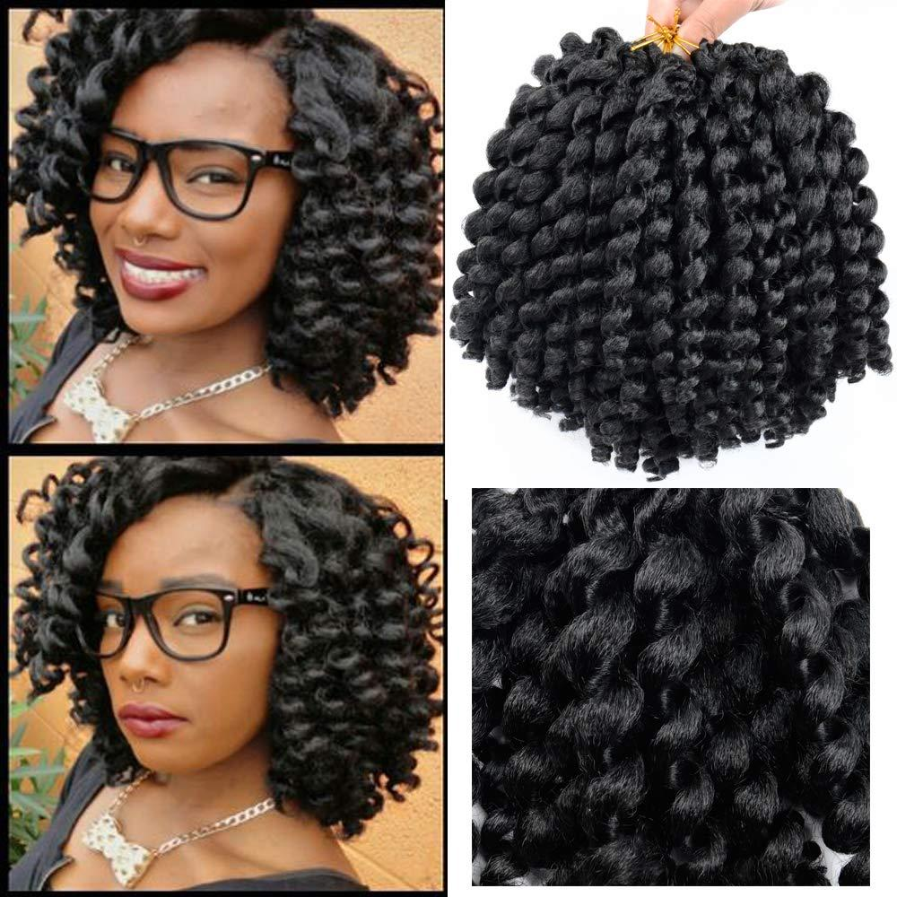 Free Shipping Wand Curl Hair Jamaican Bounce Crochet Hair 8Inch Ombre Crochet Braids Synthetic Braiding Extensions Curly Crochet Twist