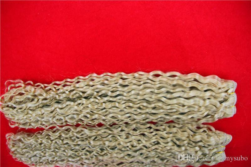 Kinky-Curly Hair 1 pc / 100g 8-36 Zoll brasilianische Rohboden Jungfrau-Haar-Webart-Bundles Non Remy Menschenhaar-Verlängerungen