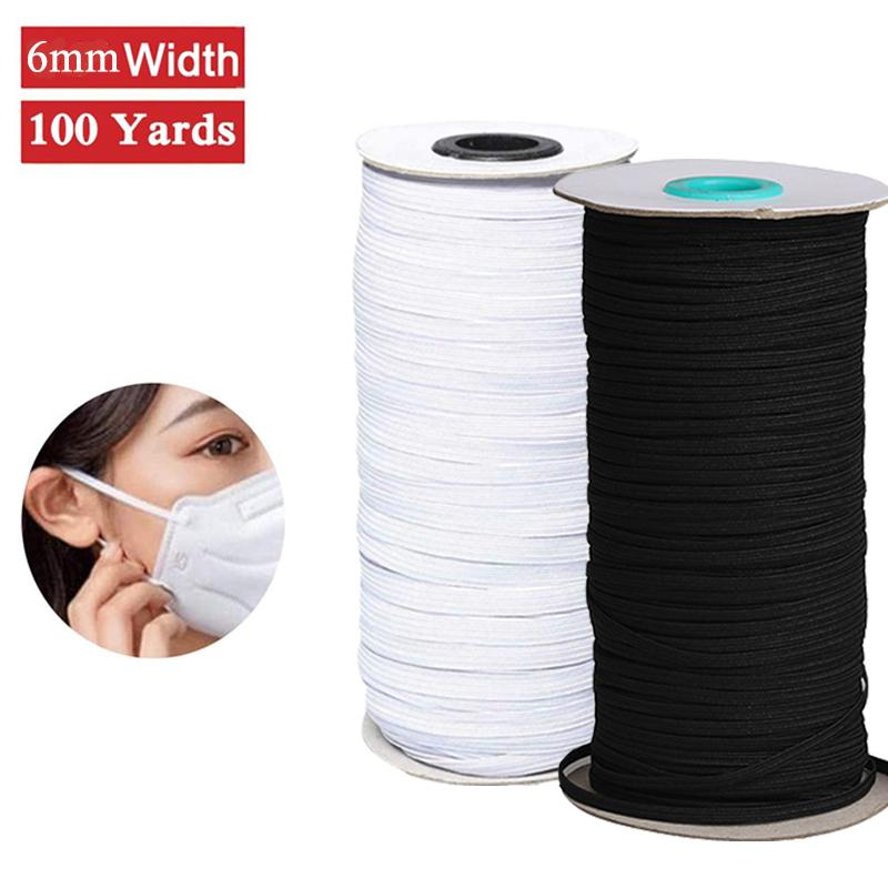 2020 Elastic Bands For Masks Braided Elastic Cord Band Stretchable