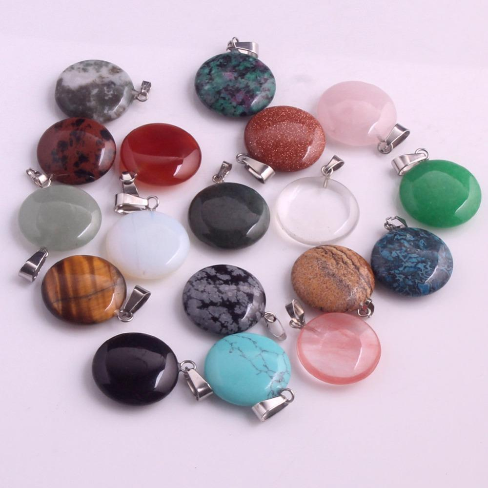 Wholesale 12Pcs Natural Stone Found Pendants For Jewelry Making Fashion Good Quality Charm Necklace Accessories Free Shipping