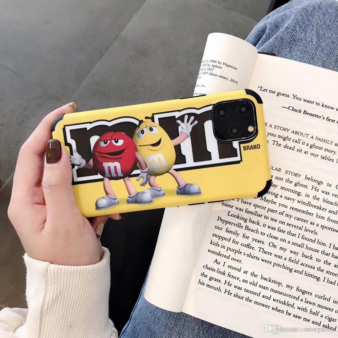 Les haricots de chocolat drôle M nutella Bottle Case pour iPhone 11 Pro X XS Max Xr 7 8 6 S Plus Couverture MM de Fundas Coque