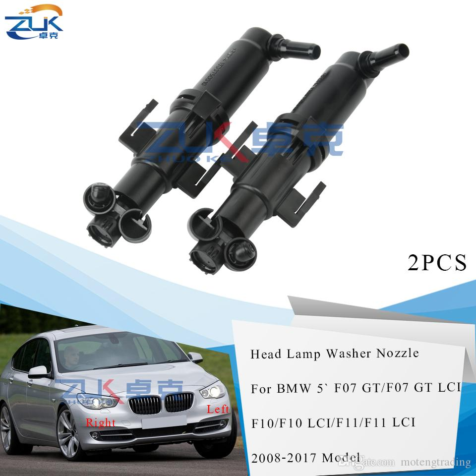 2PCS Headlamp Headlight Spray Nozzle Washer Actuator For BMW 5 SERIES F07 F10 F11 520 523 525 530 540 545 550 M5 For GT / WAGON