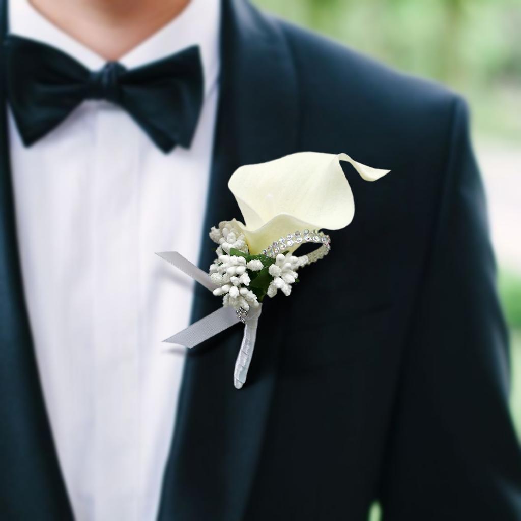 الحفلة الراقصة صدر الفستان حفل زفاف زهرة بروش Boutonnieres العريس رفقاء زهور العروة