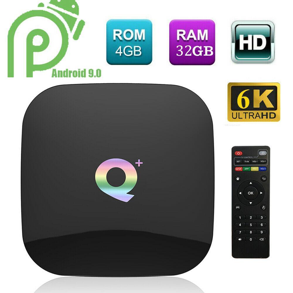 صندوق TV Q زائد الذكية الروبوت 9.0 TV صندوق 4GB 32GB 6K H6 PK S905x2 تعيين كبار مربع