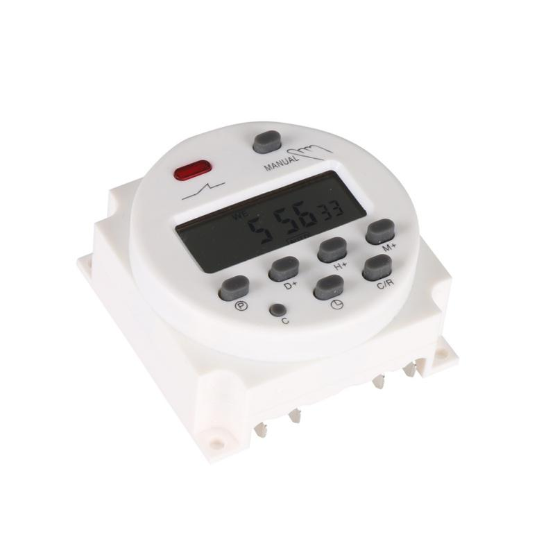 الرقمية LCD الطاقة الموقت AC 12V 24V 220V 240V 7DAYS أسبوعيا تبديل برمجة ترحيل الوقت 8A TO 16A 10A TIMER CN101 البسيطة