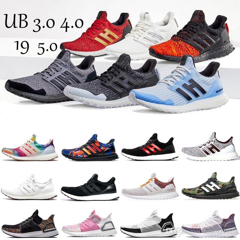 Ultra Boost 3.0 4.0 5.0 Siyah Beyaz 19 20 Primeknit Oreo CNY Mavi gri Erkekler Kadınlar spor Spor Ayakkabılar ultraboost Ayakkabı Koşu