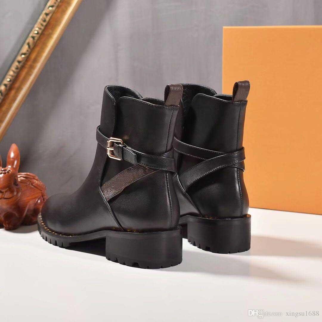 Compre 2019 Venta Caliente Botas De Diseñador Plataforma De Laureate De Cuero Genuino Mujeres Botas De Desierto Martin De Tacón Alto Zapatos De
