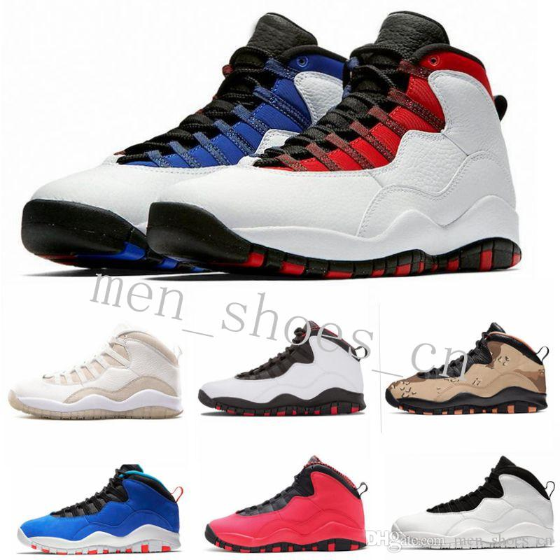 New 10 Seattle Westbrook Red Blue Tinker Cement Desert Camo Men Basketball Shoes 10s Cool Grey Infrared I'm Back Steel Sneakers With Box sev