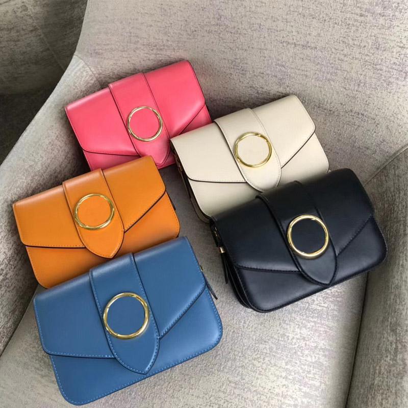 20SS французский темный модельер сумки роскошный изысканный цвет кожи цветок металлическая пряжка Crossbody сумка женская сумка плеча 23 * 15 * 8