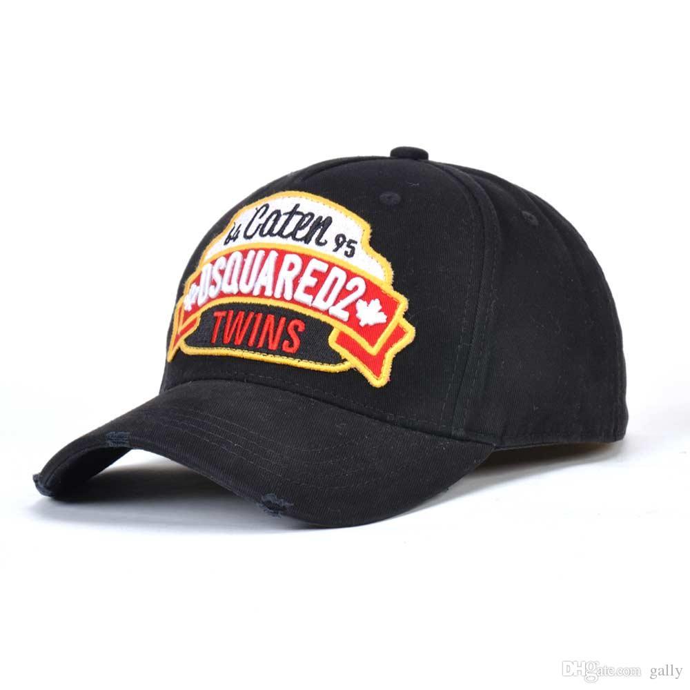 Baumwolle Baseballmütze Brief Bestickte Mütze Hochwertige Herren- und Damenbekleidung Kunden Berühmte Marken ICON Cap Black Cap Entenzunge H