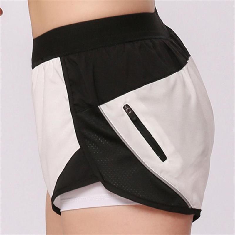 2020 nuova estate shorts sport cerniera yoga donne che gestiscono il fitness sport sottili respirabili bicchierini casuali