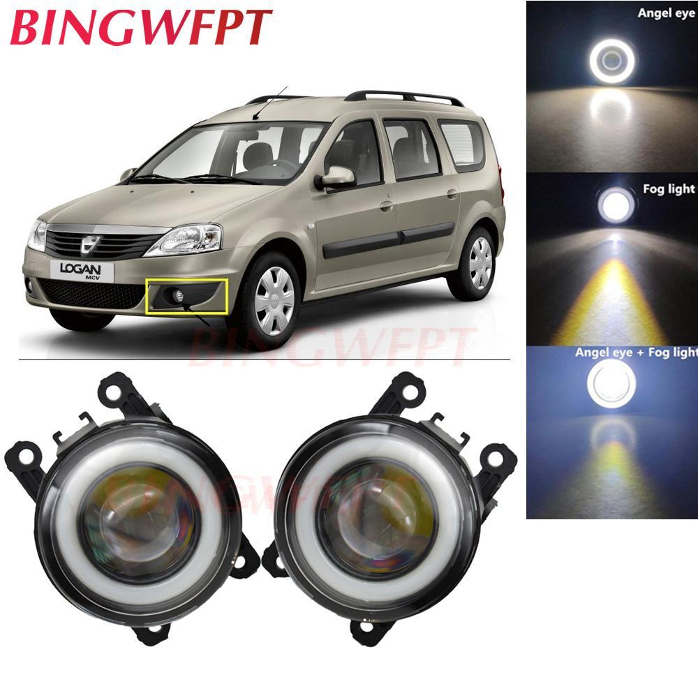 2x Accessori auto LED nebbia Light Angel Eye con len vetro per Dacia Logan MCV 2009-2013 per Duster Megane 2/3 Fluence