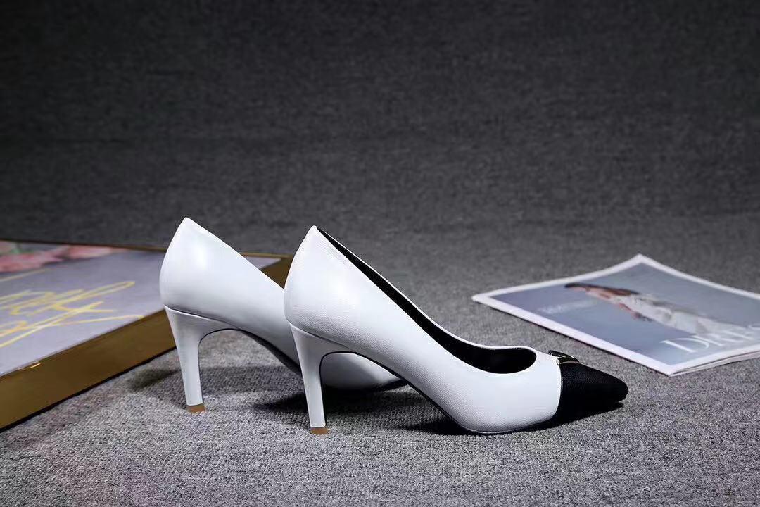 y2020011002 40 genuino cuoio bianco a punta 8cm tacchi classico scarpe da lavoro di moda