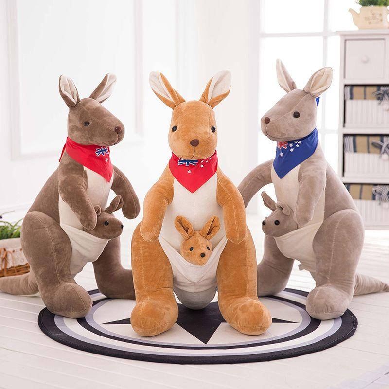 Kangourou australien mère de poupée en peluche et de l'enfant anniversaire cadeau du jour de Valentine kangourous poupée compagnie cadeau du Nouvel An.