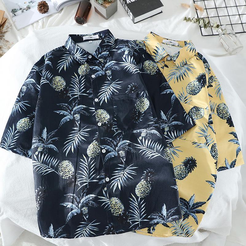 NEW Eye-Catching Hawaiian Shirts Tropical Mens Shirts Dress Short Sleeve Lapel Collar Floral Beach Vacation Clothing Summer