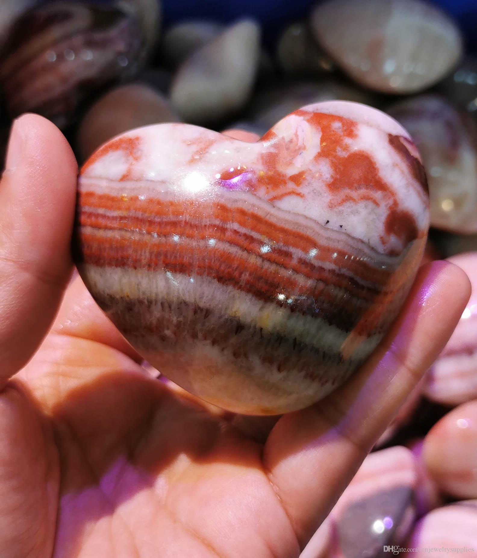 """40-100mm (4"""" ) Rodonita Esfera de Cristal Corazón Chakra pulido - Natural de cristal del amor del corazón - Reiki - regalo primas Piedras de la meditación de madera"""