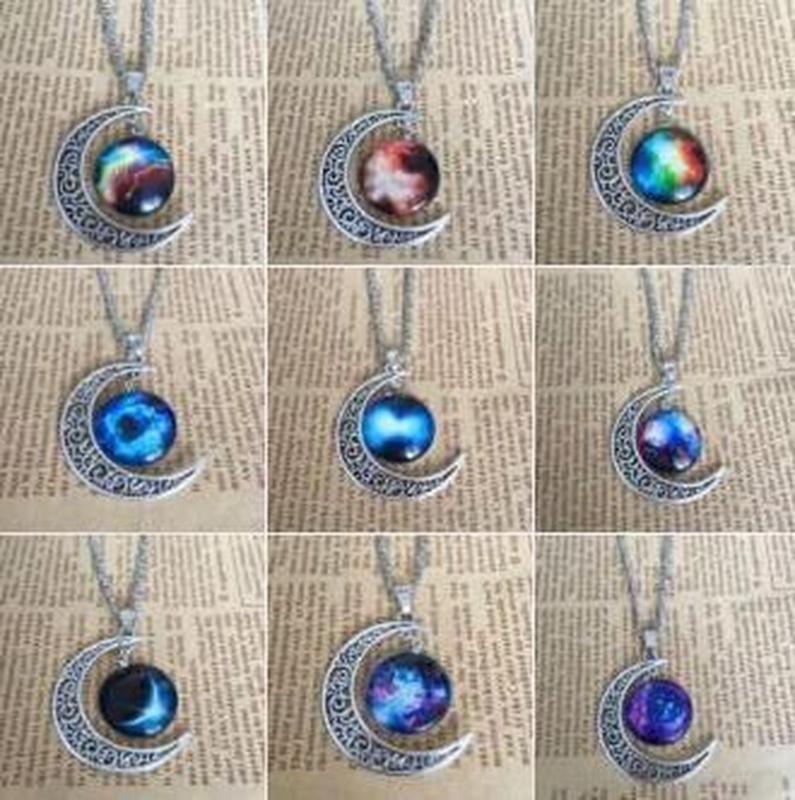 الفضة العتيقة القمر قلادة يتوهج في الظلام القمر فايكنغ سلسلة مجوهرات الكاملة القوطية قلادة هدية الموضة والأزياء الكلاسيكية الجديدة 2020