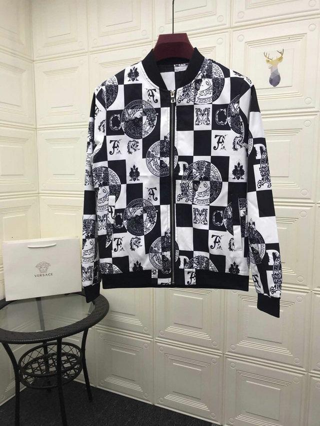 Brasão Outono personalizado coreana Tide Masculino impressão soltas Mens Tempo Lazer manga comprida Jacket Clothe 090211
