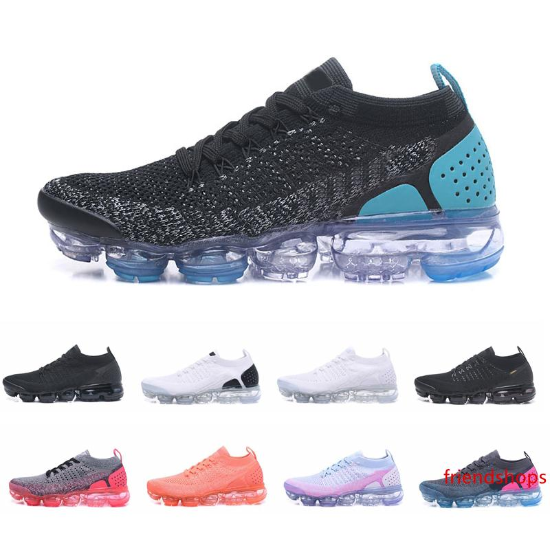 2019 Knit Moc 2 Laceless 2.0 Chaussures de course Triple Noir Blanc Femmes Hommes Designer entraîneurs des espadrilles de sport des Chaussures Chaussures Zapatos