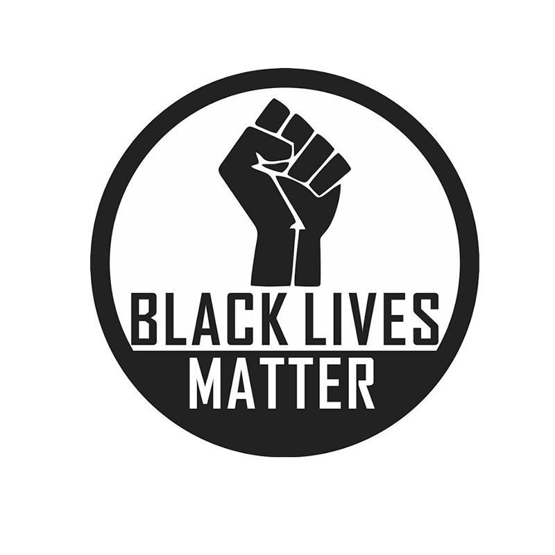 13,5 * 13,5 cm vidas negro importa la libertad etiqueta liberal espíritu silueta vinlycar CA-1103