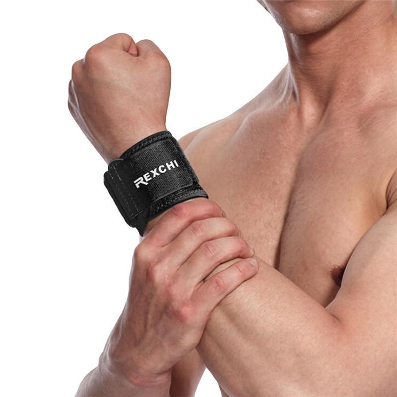 1pc protector ayuda de muñeca ajustable Peso elevador elástico suave presión Muñequera grande para Voleibol Tenis Deportes Nuevo