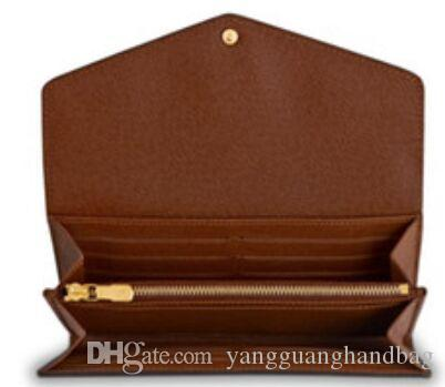 Top quality brand new leather wallet women long purse clutches handbags With Box SARAH design ARTSY STYLE