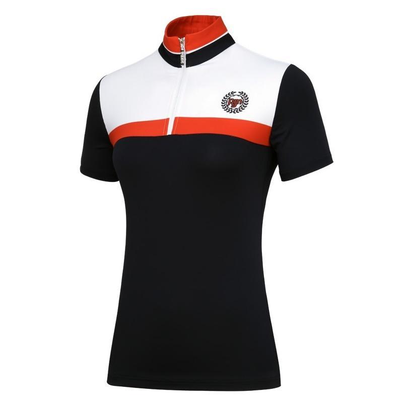 Pgm Femmes d'été respirant à manches courtes T-shirts Femme Golf respirant Shirt femme sport rapide à sec Vêtements de golf AA60445