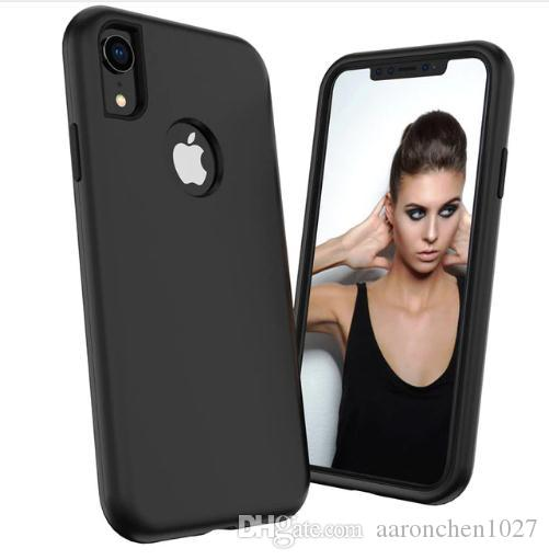 3 in 1 Phone Cases For iPhone Xs Max X XR 6 6s 8 7 Plus Case Shockproof Protective Hybrid Hard Rubber Impact Defender Case Cover