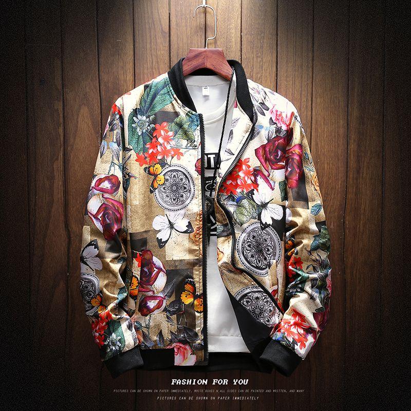 New Rose chaqueta de bombardero de los hombres para hombre de las chaquetas Casual Escudo fz1203