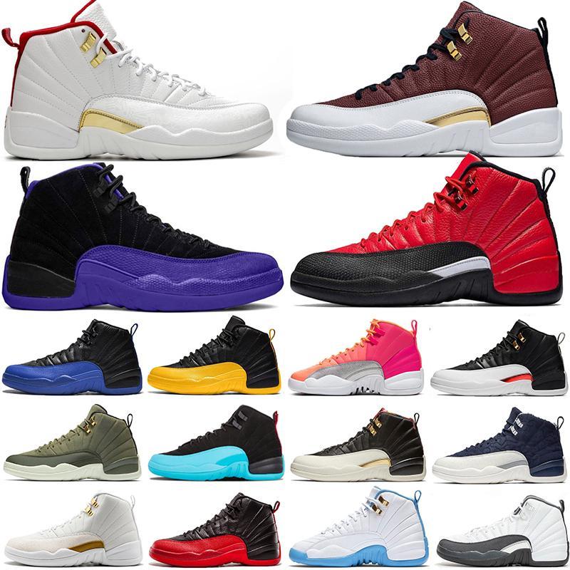 Üst Satış TERS GRİP OYUN KOYU concor 12 12s Basketbol ayakkabıları Ters Taksi Sıcak Punch FIBA Bulls Gym Kırmızı Erkek Eğitmenler Spor Spor ayakkabılar