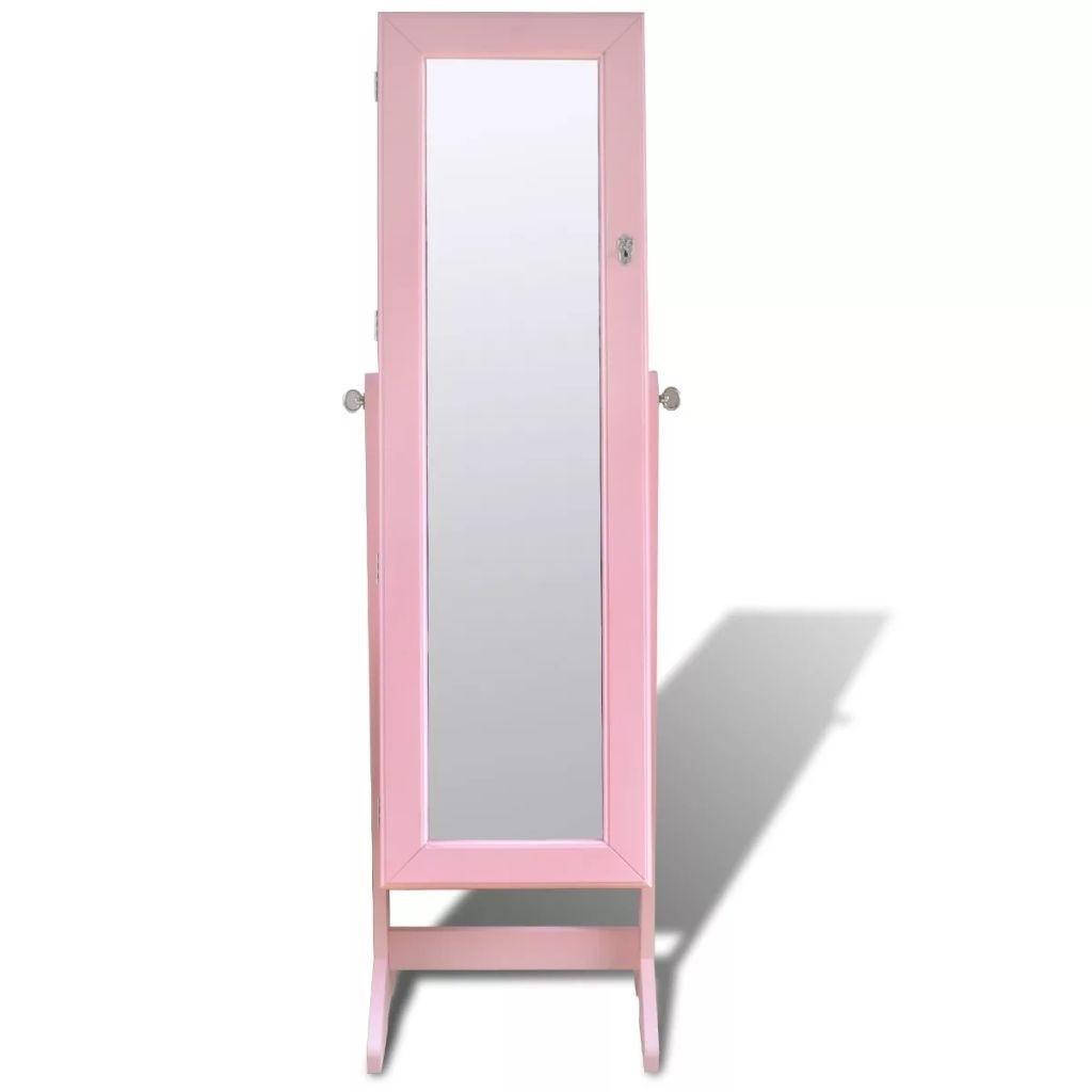Hasta la joyería armario con espejo e iluminación con LED Rose muebles para la sala