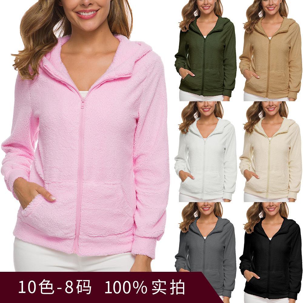 Free Shipping Popular Women's Clothing Plush Protective Clothing Autumn Lamb Grain Velvet Lady's Coat Winter Discount Store.