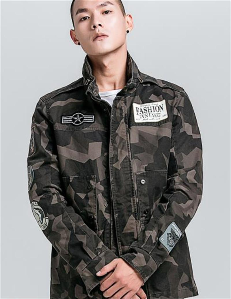 Camouflage Imprimer Mens Designer Fashion Jackets stand Lettre Collar Imprimer Hommes Zipper Vestes hommes Vêtements décontractés