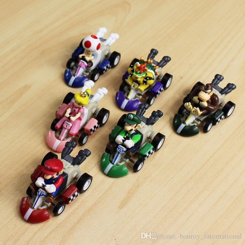 2019 Super Mario Kart Pull Back Car Luigi Bowser Koopa Donkey Kong Princess Peach Toad Mushroom Cars Figure Toys For Kids From Bonroy International