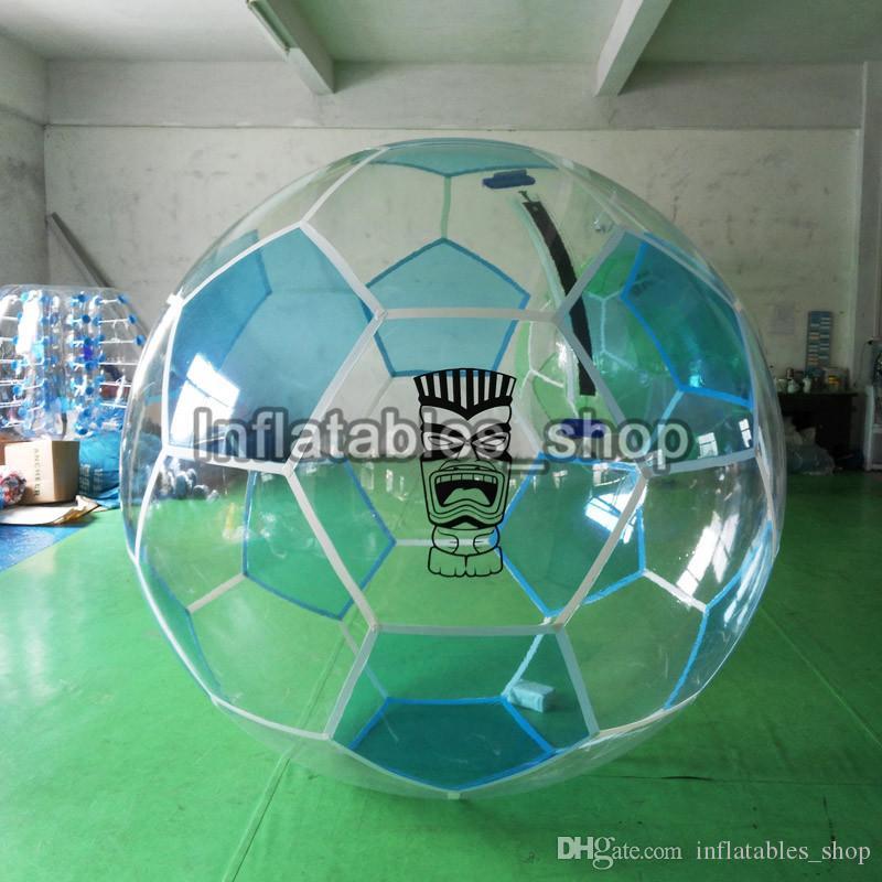 Oyuncak stres topu Şişme Su Yürüme Topu 1.0mm TPU kabarcık Su Zorb Topu 2 M Çapı Ücretsiz Kargo