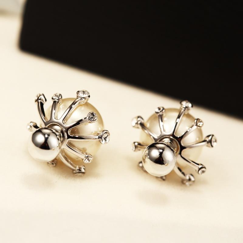 Moda orecchini donne squisita perla temperamento femminile selvatici orecchini anallergici placcato oro 18k gli orecchini di lusso gioielleria regalo
