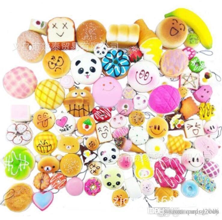 30 Farklı Stiller Squishy Rilakkuma Donut Yumuşak Squishies Sevimli Telefon Sapanlar Yavaş Yükselen Squishes Jumbo Çörekler Çanta Telefon Takılar