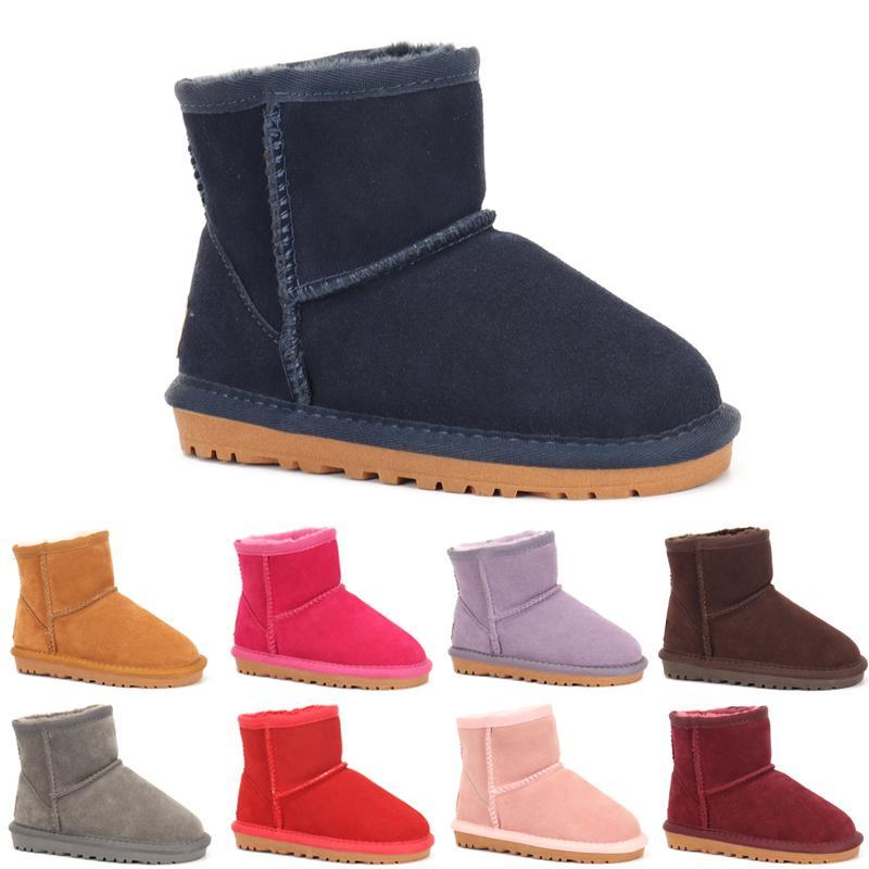 UGG boots New réel Australie 528 filles de haute qualité pour enfants garçons bottes pour enfants bébé bottes de neige chauds étudiants adolescents bottes de neige d'hiver