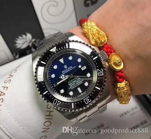 Di lusso Men Watch Sea-Dweller lunetta in ceramica 44 millimetri Stanless acciaio 116660 automatico di alta qualità Business Casual Mens Orologi da polso