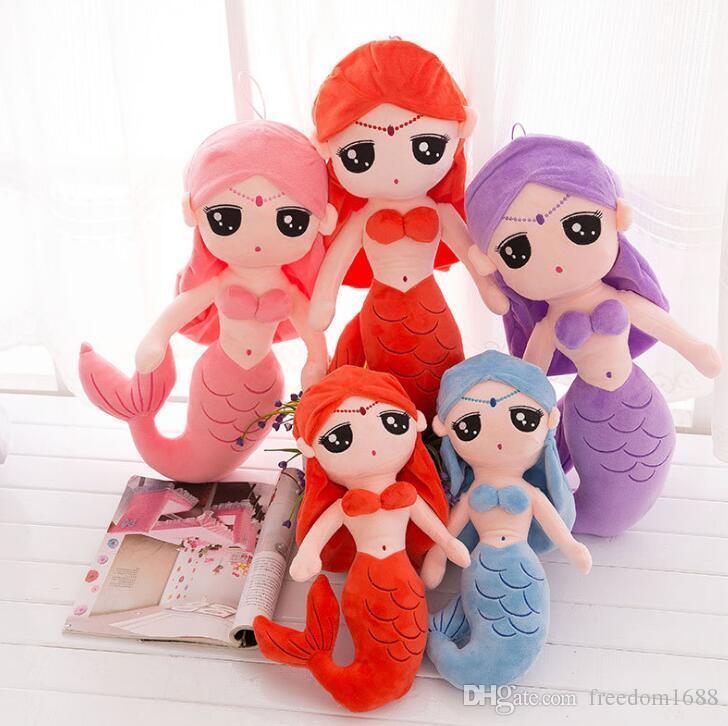 Mignonne princesse sirène poupée jouet en peluche petite fille oreiller pour enfants tridimensionnel confortable et doux jouets