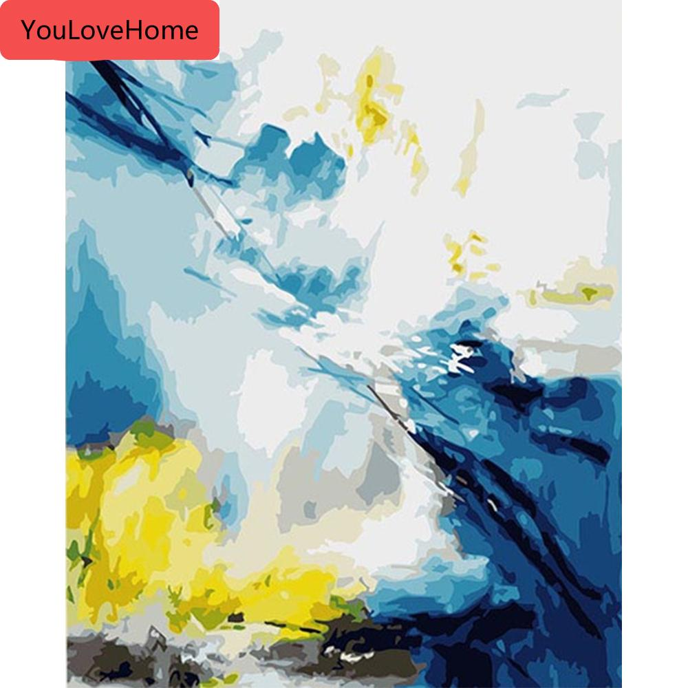 Dipingere con i numeri di paesaggio arte della parete per numero Scenery area di disegno acrilico dipinto a mano regalo Home Decor