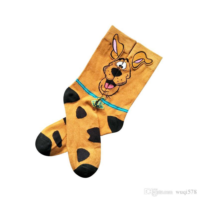 Cartoon Pluto Dog Printing Socks Anime Cosplay Cute Personality Breathable Animal Novelty Funny Yellow Ear Man Casual CalcetinesCartoon Plut