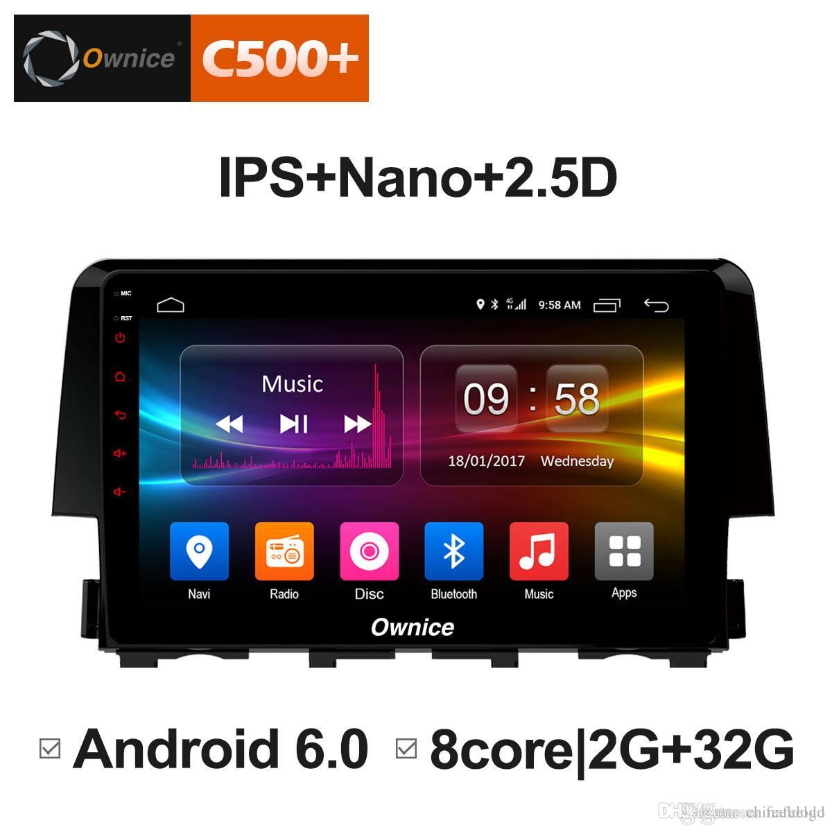 """9"""" 2.5D Nano IPS Screen Android Octa Core/4G LTE Car Media Player With GPS RDS Radio/Bluetooth For Honda Civic 2016-2017 #5870"""