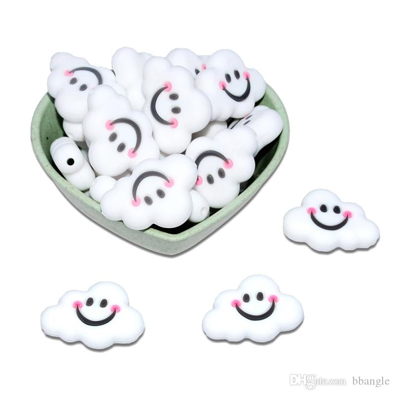 Silicone Teether nuages Perles Teething de qualité alimentaire Clips silicone petit nuage bricolage Pacifier maman Collier Accessoires Perles