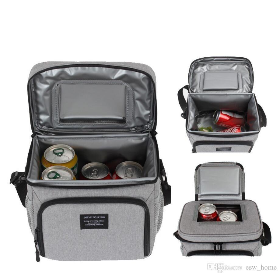 Multifunktions-Picknick-Kühler doppeltes frisches Eis-Schulter auslaufend Bento-Lebensmittel-Mittagessen-isolierte Taschen wasserdichte Einkaufstasche Lagerungspaket Handba TGFO